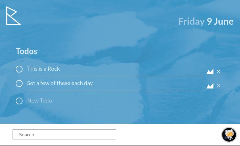 Rocks todo app